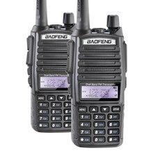цена на 2PCS/LOT Free Shipping BAOFENG New UV-82 VHF/UHF 136-174/400-520MHz Dual Band Radio Walkie Talkie with Earphone