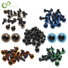 100Pcs 10mm Plastic Safety Eyes with Washers for Teddy Bear Stuffed Toy Snap Animal Puppet Doll Craft DIY Accessories GYH(China)