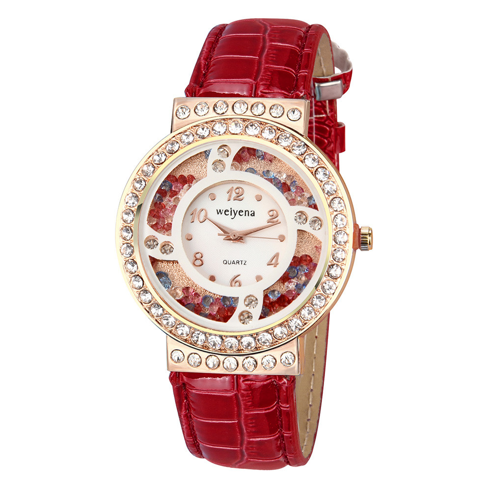 watches women fashion watch 2018 Quicksand Creative Diamond Buckle Female Watches in Eight Colour No waterproof поднос gift