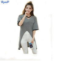Hrizip Maternity Nursing Hollow Striped Invisible Zipper Breastfeeding Sweater Clothes For Pregnant Women Wear Feedding Clothing