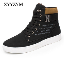 ZYYZYM Boots Men Winter Help Style Classic Plush Keep Warm Shoes Man Snow 2019 New Black