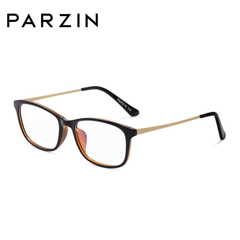 Parzin mode lunettes cadres femmes lunettes cadre Tr 90 ordinateur optique clair lentilles lecture lunettes noir avec étui 5055 - 3