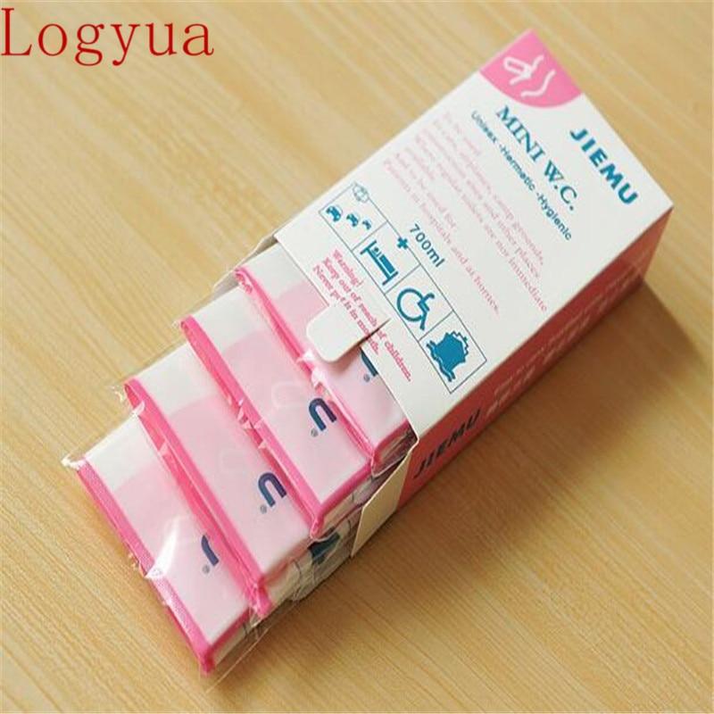 4pcs Pink Disposable 700CC Urine Storage Bag Emergency Toilet Travel=For Un  sa