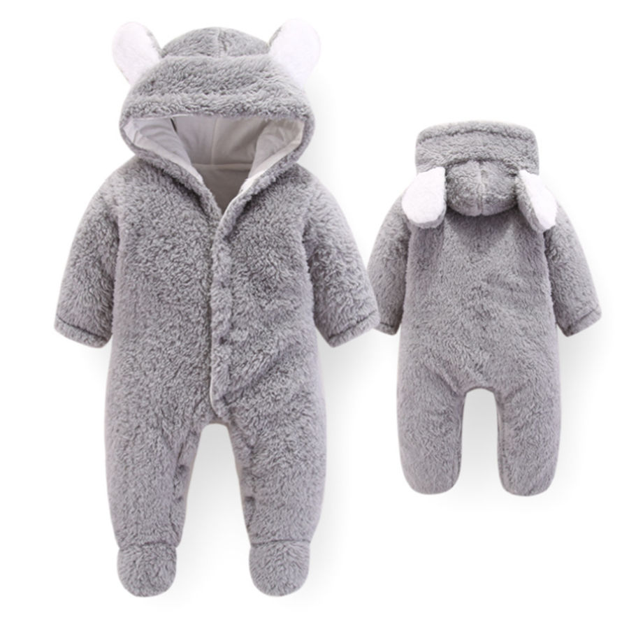 4551e2931af Detail Feedback Questions about 2018 Newborn Baby Girl Clothes Toddler Baby  Boy Rompers Winter Cotton Fleece Bear Long Sleeve Jumpsuit Infant Baby  clothes ...