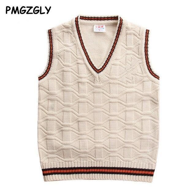 Bambini Maglioni Gilet gilet di lana da 3 a 10 anni Bambini top quality maglie senza maniche Per Bambini ragazzi pullover maglia vest coat