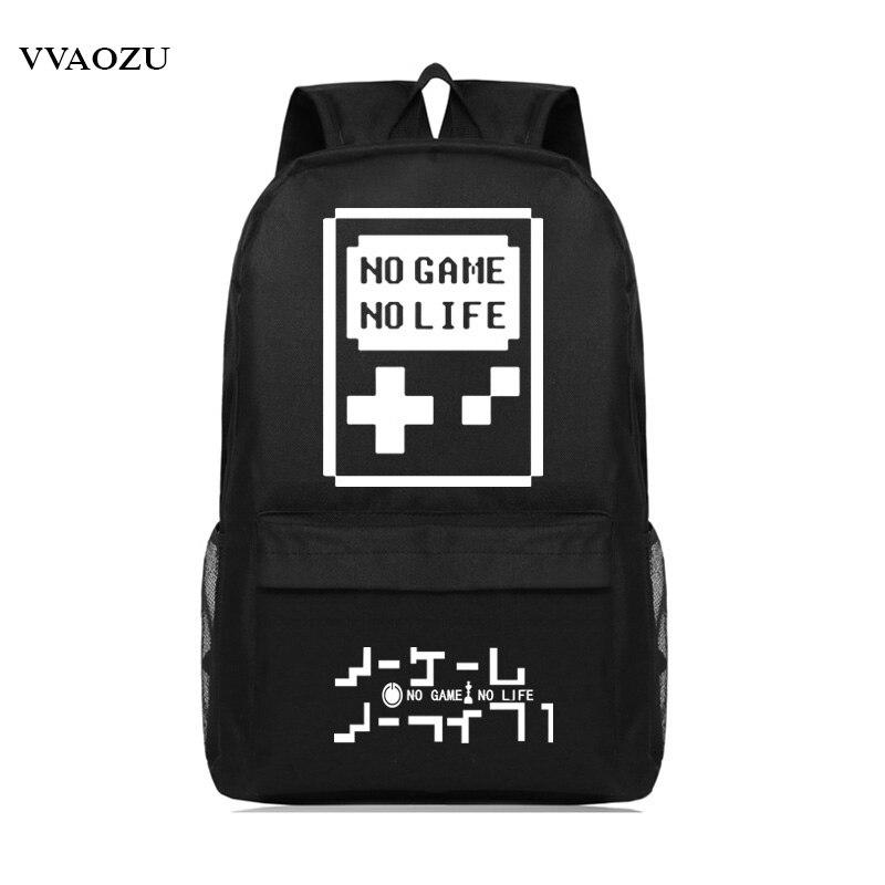 Japan Anime No Game No Life Backpack Cosplay Oxford Students Bagpack Travel School Bag Schoolbag