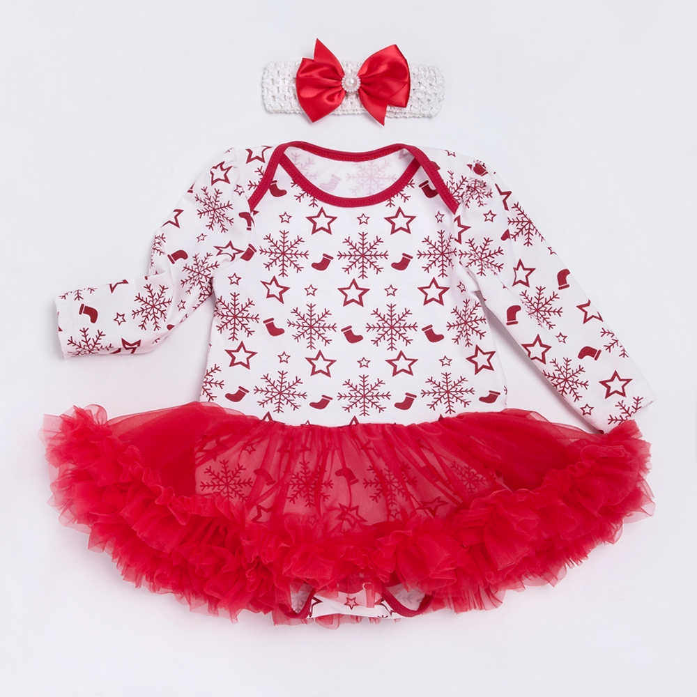510f07ee77b9 ... Baby Costume Ball Gown Newborn Girls Bodysuit Dress Christmas Cotton 0-2  Years Baby Clothing ...