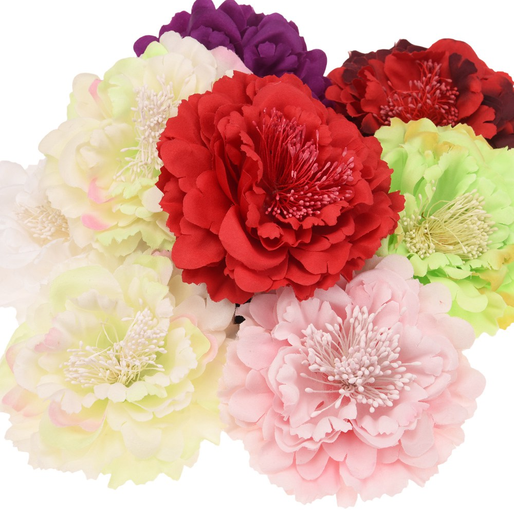 48pcs big peony fabric flowers