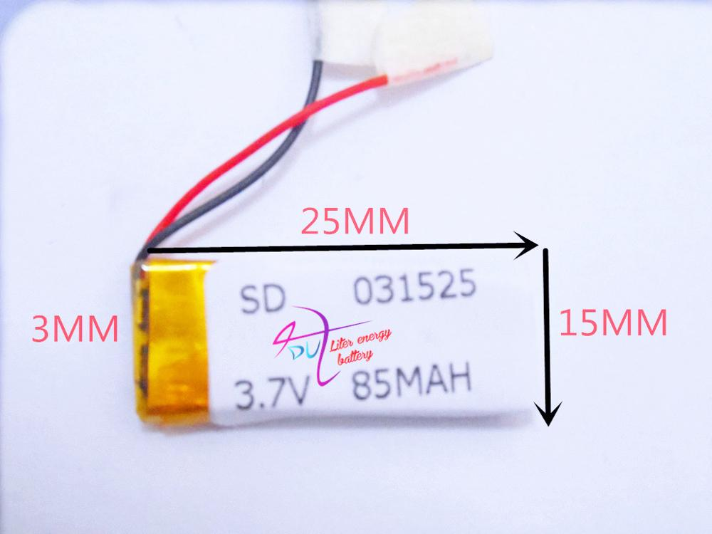 best battery brand 3.7V lithium polymer battery 031525 <font><b>301525</b></font> 85mah MP3 MP4 Bluetooth headset image