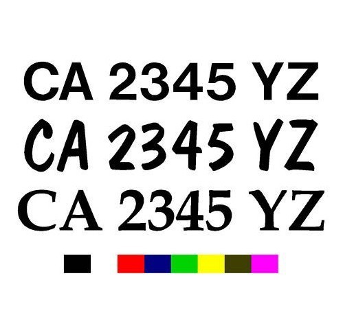 Free X Boat Registration Number Decals Vinyl PWC Lettering Pair - Boat decalsboat decals sticker promotionshop for promotional boat decals