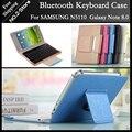 For Samsung N5100/N5110 Bluetooth Keyboard Case 8 Inch Tablet Bluetooth Keyboard case for Galaxy Note 8.0 Freeshipping+ Gift