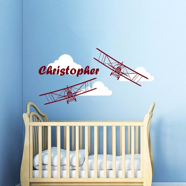 Aliexpresscom  Buy  Hot Fashionable Airplane Wall Decal - Personalized custom vinyl wall decals for nursery
