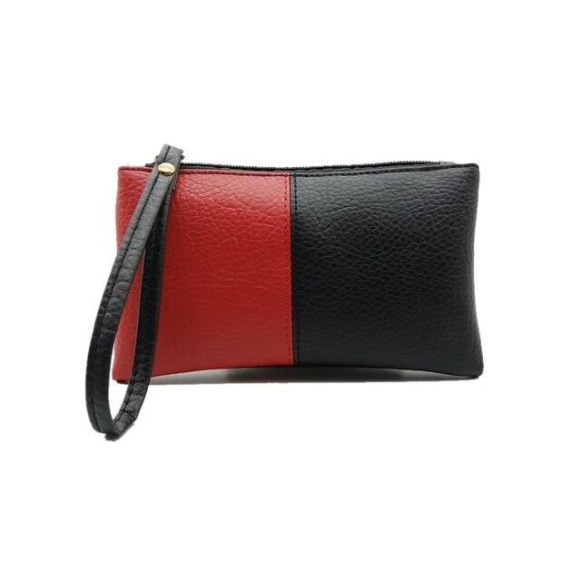 0e5f50204cc0 2018 Hit Color Black & Red Men Women Wallets PU Leather Bag Zipper Clutch  Coin Purse Phone Wristlet Portable Handbag Shopping