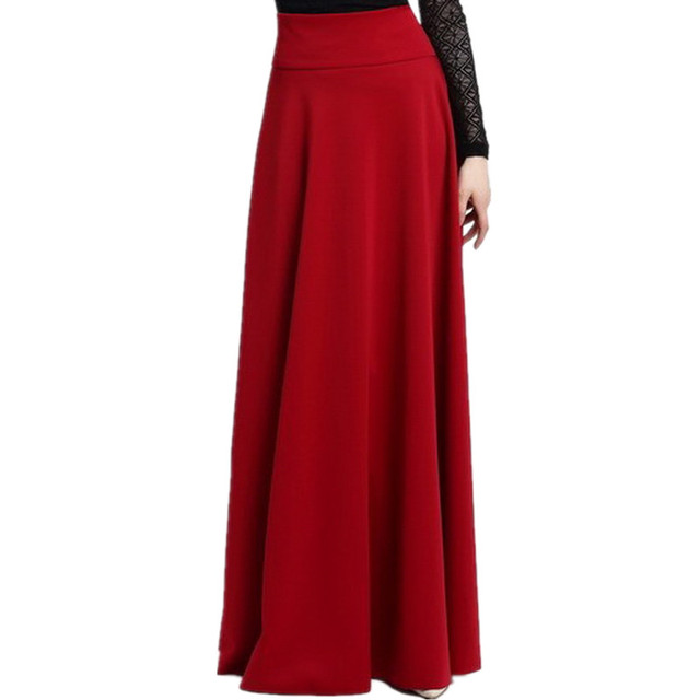 a715a7c3a3 High Waist Party Maxi Female Skirts New Style Womens 2017 Hot Sale Ladies Long  Skirt S