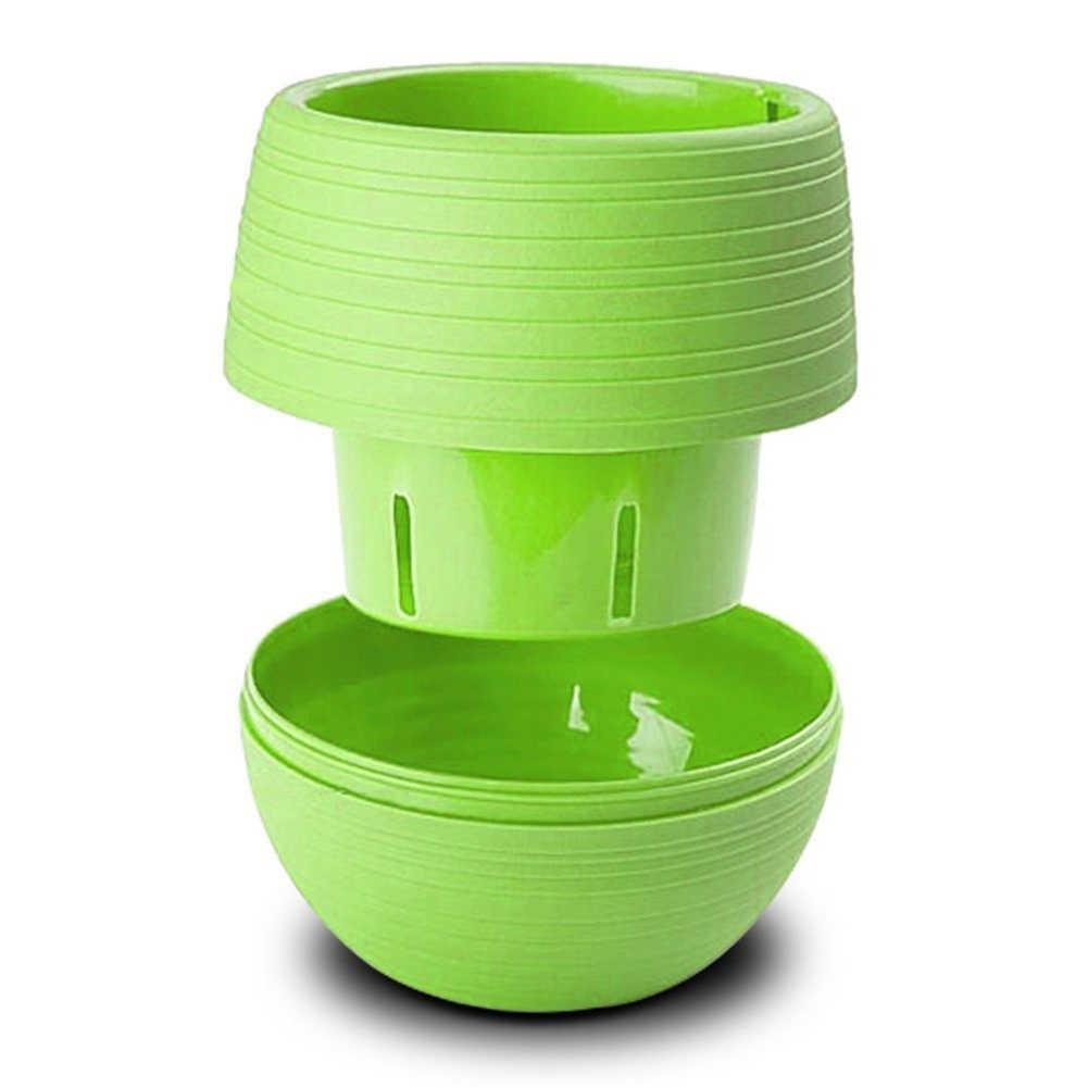 HOT SALE! 1Pc Cute Resin Succulent Plants Flower Pot Saucer Tray Planter Home Desk Garden Decor flower pot Home & Garden