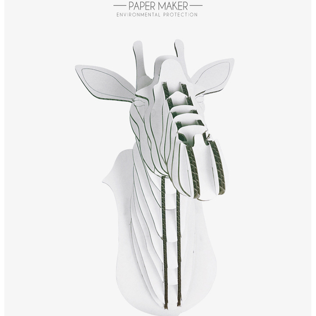 3d puzzel giraffe hoofd dier model papier ambachtelijke