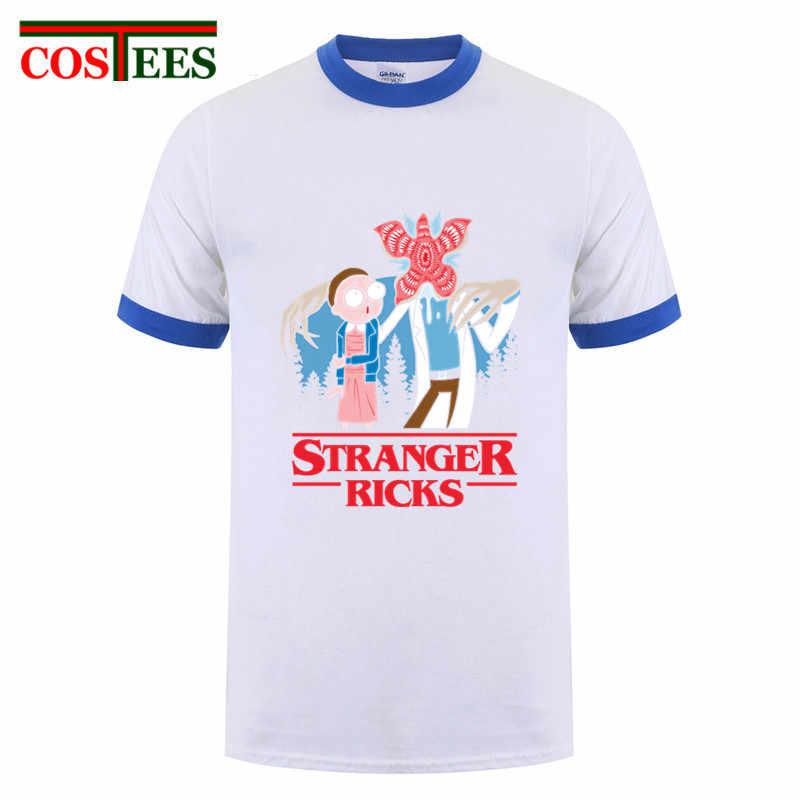 Ricka y Morty extraño cosas camiseta chicos hip hop barato extraño Rick t camisas de manga corta 100% algodón de los hombres de hombre tlife tops