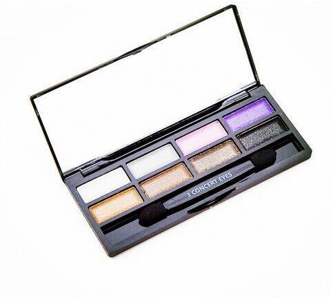 3 CONCERT OGEN Oogmake-up acht Kleuren Oogschaduw Aarde Kleur Eyeshadow Matte Oogschaduw Palet Make Up Glitter Oogschaduw