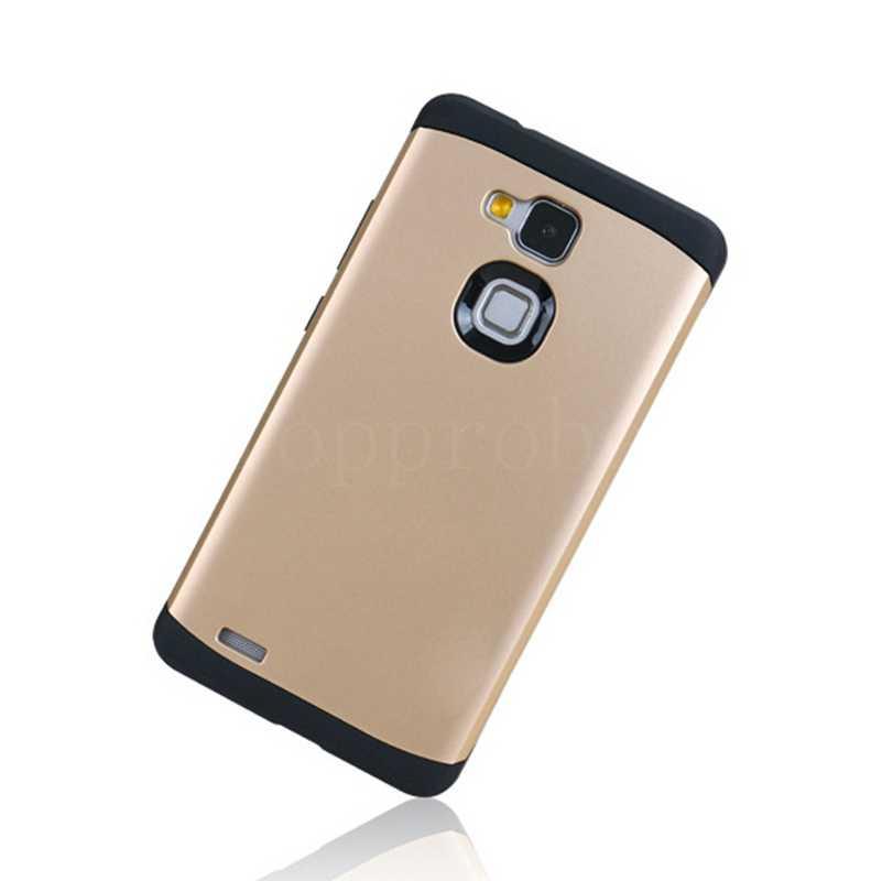 """Dual Layer Anti-knock Caso ARMOR SLIM Per Huawei mate 7 6 """"cell phone cover in silicone protettiva per Huwei MT7-TL00 13th + 1X Pellicola"""