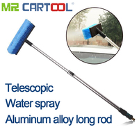 Portable Telescopic Car Wash Brush Adjusting Switch Design Water Control Switch Durable Leak proof Auto Cleaning Tool