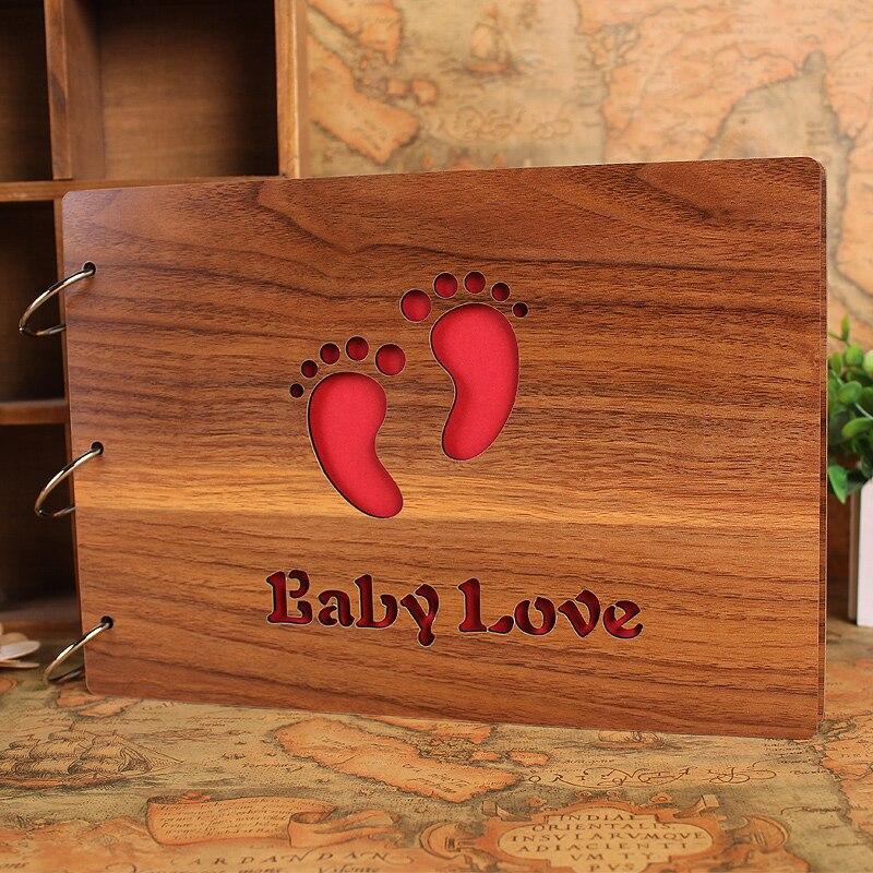Quality Photo Albums: Baby Grows Photo Album Quality Wood Handmade Wedding Photo
