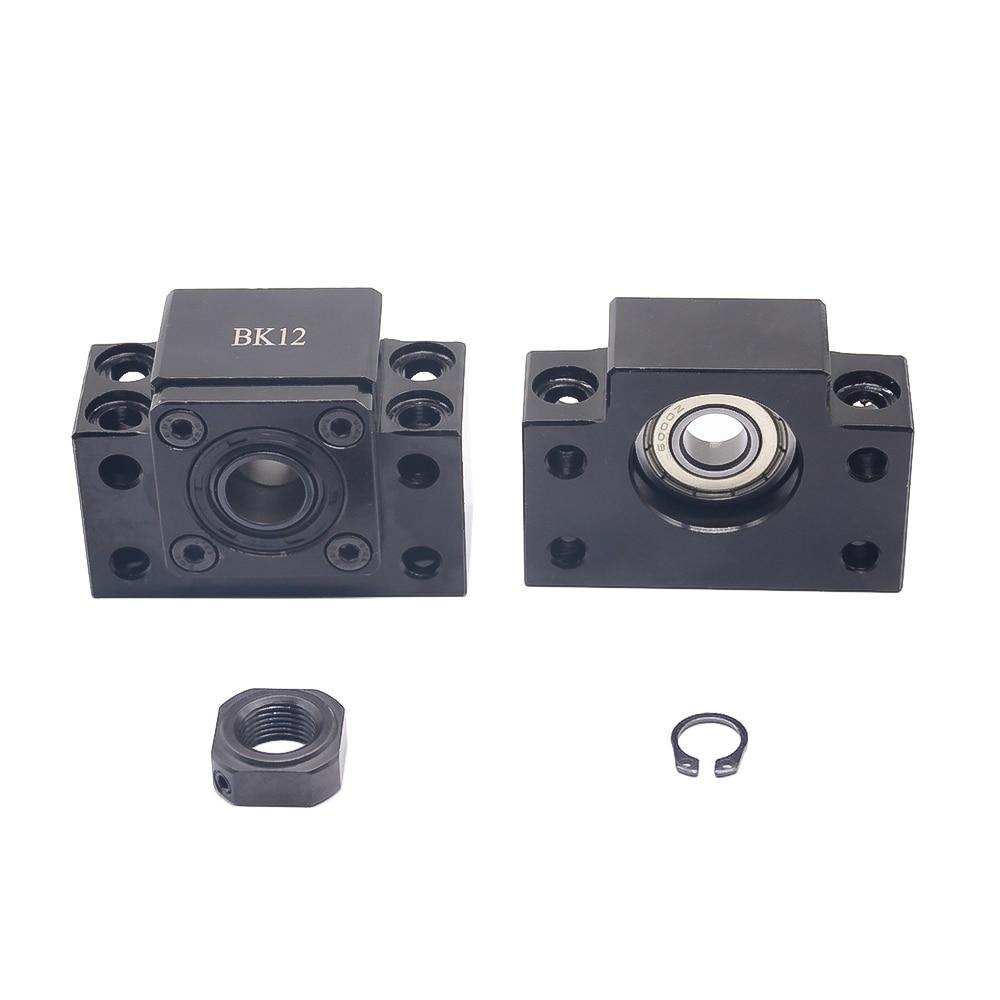 Ballscrew End Supports 1pc BK12+1pc BF12 1605 1610 ballscrew End Support 10mm CNC Parts for SFU1605 SFU1610 BK10 BF10 forSFU1204