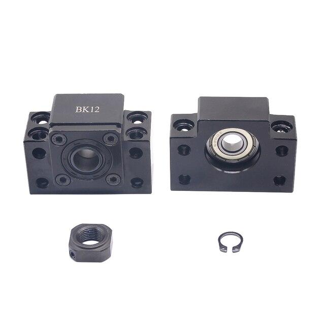 Extremidade ballscrew suporta 1pc bk12 + 1pc bf12 1605 1610 ballscrew final suporte 10mm peças cnc para sfu1605 sfu1610 bk10 bf10 forsfu1204