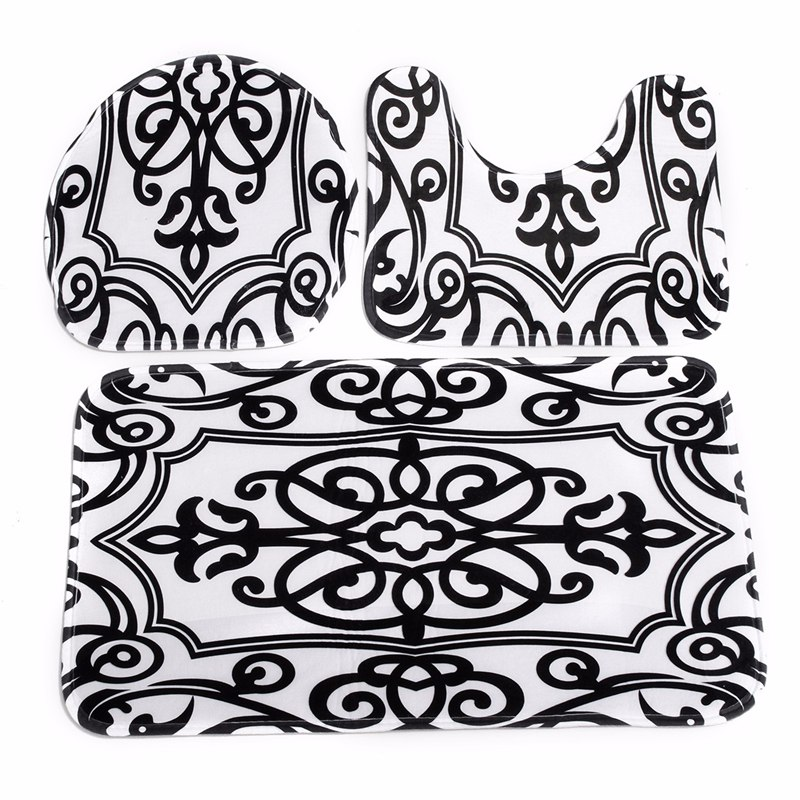 black and white bathroom rug | roselawnlutheran