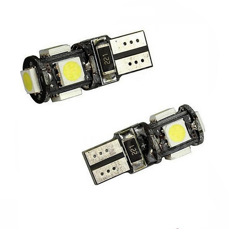 LED Light <font><b>1W</b></font> DC12V White 5SMD <font><b>5050</b></font> High Quality Canbus width lamp no error auto lamp led light led lamp light 2PCS image