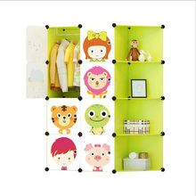 New Children #8217 s Cartoon Plastic Assembly Simple Wardrobe Lockers Storage Cabinets Resin Composition Baby For Kit Child cheap 325-2