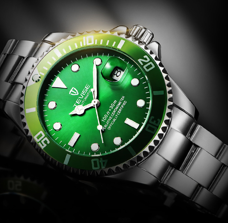TEVISE Automatic Mechanical Watches Men Watch Sport Business Wristwatch Male Clock Luminous Watches Calendar Relogio Masculino tevise mens watches brand watch skeleton automatic self wind business mechanical steampunk wristwatch relogio masculino xmas