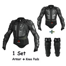 O envio gratuito de 1 Conjunto de Enduro de Moto Jaqueta Jaqueta Homens Motocicleta Armadura Equipamentos de Proteção Joelheiras