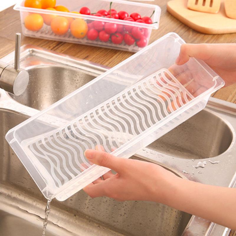 Practical Refrigerator Food Storage Boxes Sealed Vegetable Seafood Kitchen  Tools Tableware Hot Sale(China (