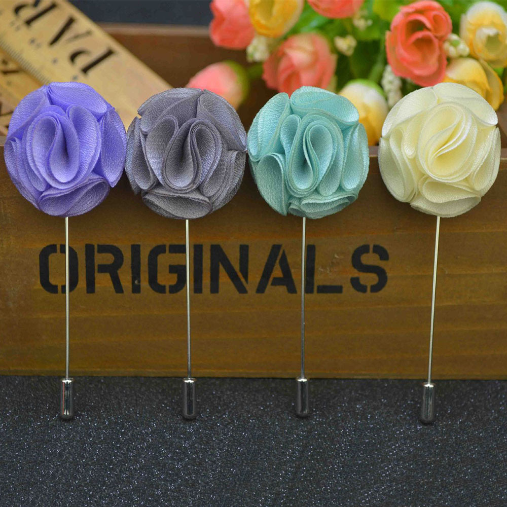 Mdiger wholesale men suit brooches wedding classic mens flower mdiger wholesale men suit brooches wedding classic mens flower brooch imitated silk fabric insert long lapel pin mixed 3 pcslot in brooches from jewelry izmirmasajfo