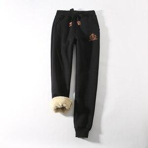 Image 4 - Jvzkass 2020 zimowe spodnie bawełniane lambskin spodnie wełniane spodnie na co dzień plus aksamitne pogrubienie spodnie spodnie w dużym rozmiarze kobiety Z211