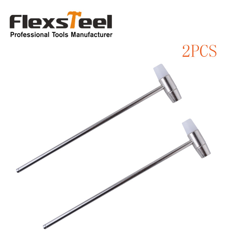"""2PC Stainless Steel 7""""/180mm Watch Hammer Set With Double Head"""