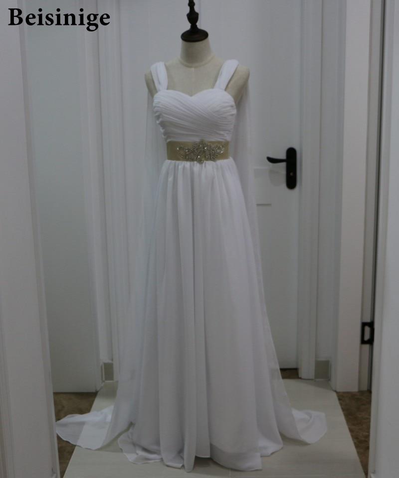 greek style wedding dress. aliexpress.com : buy grecian style wedding dress with cape watteau train long chiffon beach bridal greek gowns 2017 vestidos de novia from e
