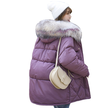 Winter jacket Women Coats Long Parkas Casual Fur Hooded puffer women winter clothes Warm Female Overcoat Coat