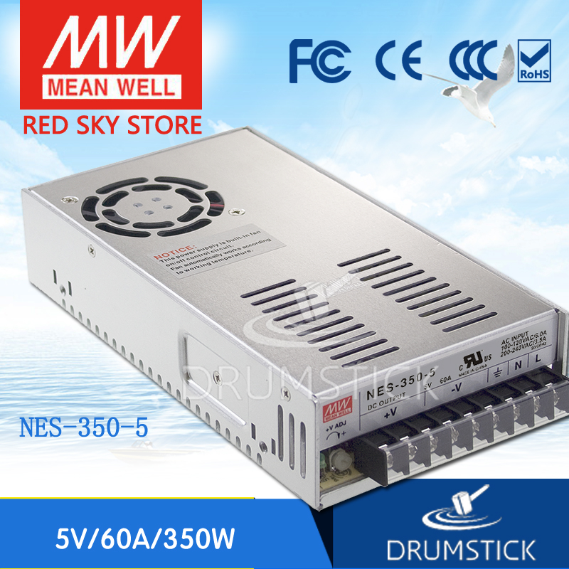 Competitive Products MEAN WELL NES-350-5 5V 60A meanwell NES-350 300W Single Output Switching Power Supply [Hot1] original meanwell nes 350 24 ac to dc single output 350w 14 6a 24v mean well power supply nes 350