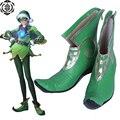 Trazador de duende de la Navidad cos Cosplay Shoes boots bota zapato # TB106 de Halloween Navidad