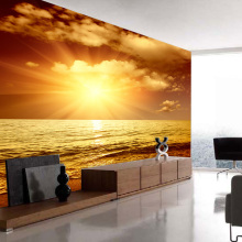 3D Wallpaper Sea Wave Sunset