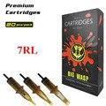 BIGWASP [Premium Edition] Profesional Desechable Marrón Cartucho de la Aguja Del Tatuaje 7 Trazador de Líneas Redondo (RL) 20 Unids/caja