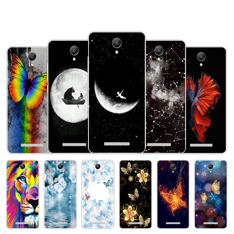 Ambitious 5.5 Inch For Xiaomi Redmi Note 2 Phone Case Butter Design Clear Silicone Shell For Redmi Hongmi Note2 Back Soft Tpu Cover Capa
