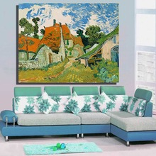 Street in Auvers sur Oise wall art decoration oil painting on Canvas picture