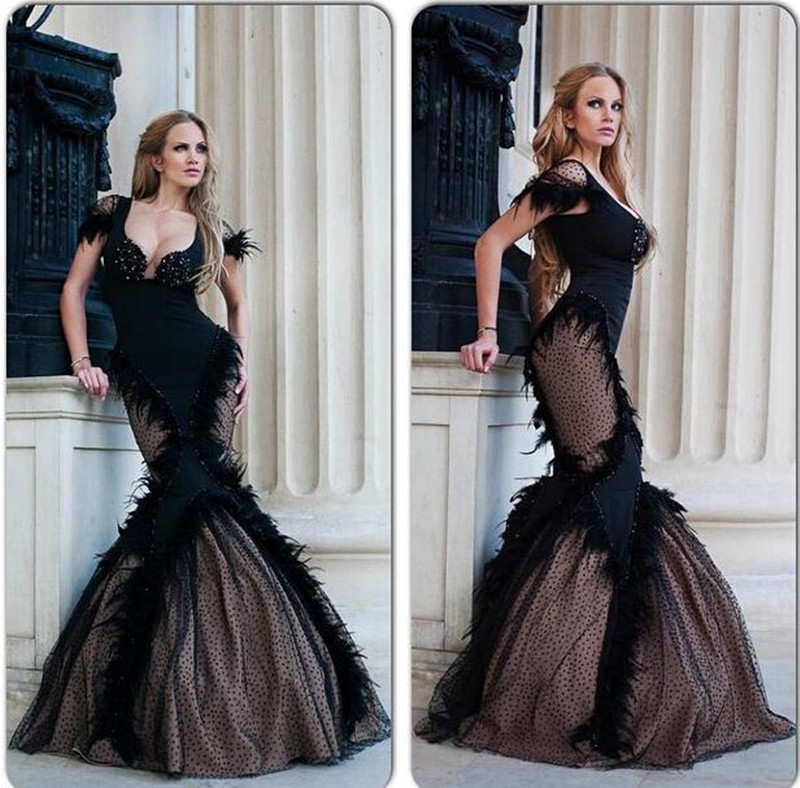 Popular Black Feather Dress-Buy Cheap Black Feather Dress lots ...