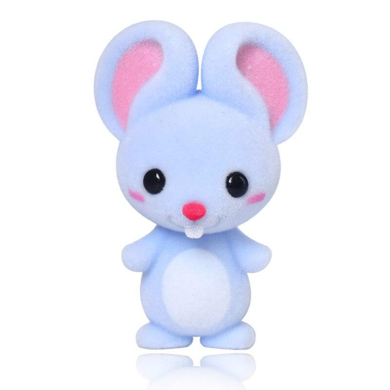 Милая мышь, фигурки, развивающая кукла для детей, мышь в виде китайского зодиака, домашние украшения для детей, распознавание Мягкие игрушки животные    АлиЭкспресс