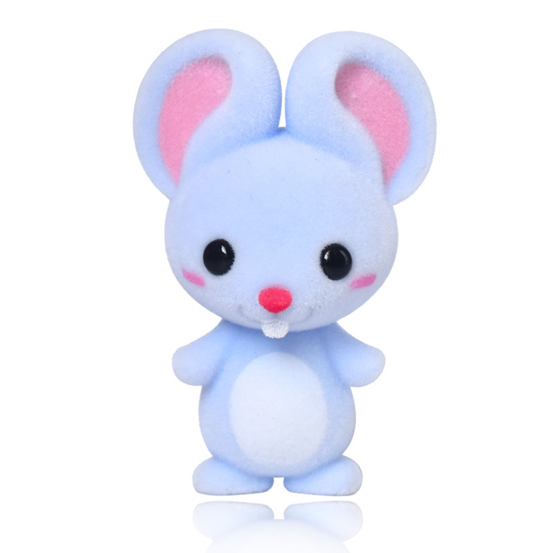 Lovely Mouse Action Figures Educational Doll For Children Chinese Zodiac Animal Mouse Home Ornaments For Children Recognization