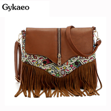2016 Vintage Women bag Lady PU Leather Tassel messenger Shoulder Bags Handbags Women Famous Brands sac a main Bolsa Feminina Bag aitesen 2017 pu leather shell bags hobos woman small handbag michael luxury lady solid crossbody bag bolsa feminina sac a main
