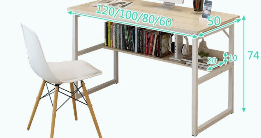 120*50 cm bureau d'ordinateur portable bureau d'ordinateur bureau PC bureau - 3