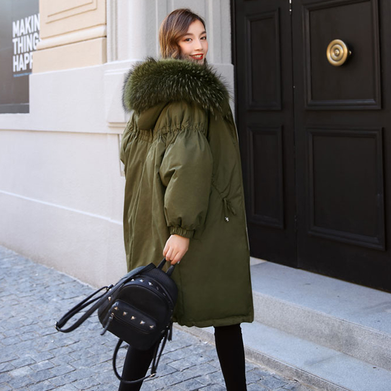 Winter Coat Women 2018   Parkas   For Female Jacket Thicken Warm Hooded Coat Big Real Fur Collar Womens Winter Jackets And Coats